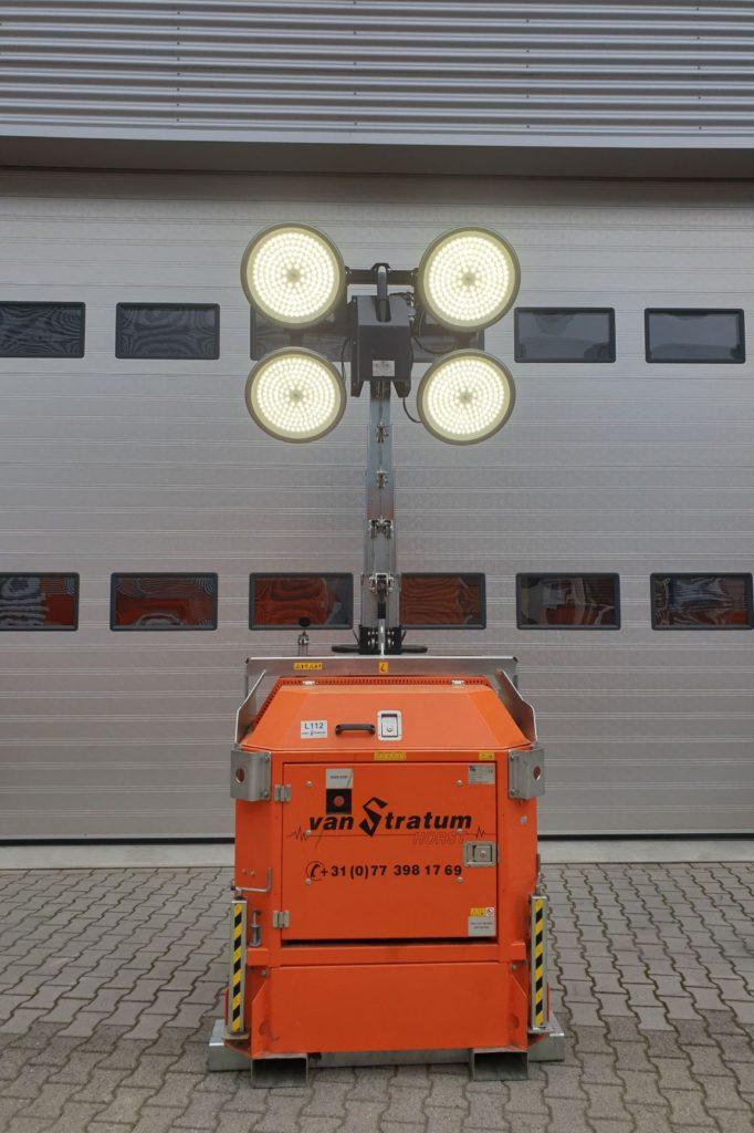 Cube met LED-lampen